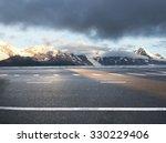 beautiful asphalt road in snow... | Shutterstock . vector #330229406