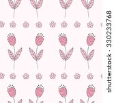 cute bellflowers seamless... | Shutterstock .eps vector #330233768