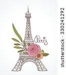 eiffel tower parisian symbol.... | Shutterstock .eps vector #330241292