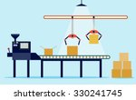 conveyor system in flat design. ... | Shutterstock .eps vector #330241745