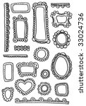 curly frames and ornaments... | Shutterstock .eps vector #33024736