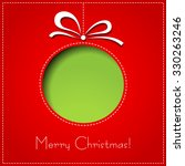 merry christmas paper greeting... | Shutterstock . vector #330263246