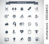 fitness icons set   set of... | Shutterstock .eps vector #330268412