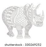 rhino zentangle stylized ... | Shutterstock .eps vector #330269252