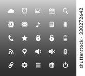 set of 25 mobile application... | Shutterstock . vector #330272642