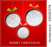merry christmas paper greeting... | Shutterstock . vector #330282578