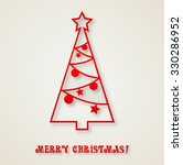 christmas tree paper background | Shutterstock . vector #330286952
