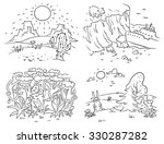 set of four different climatic... | Shutterstock .eps vector #330287282