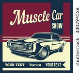 muscle car retro vector | Shutterstock .eps vector #330294536