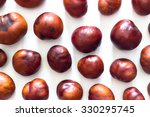 Fresh Chestnuts Isolated On...