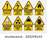 warning  sign label  vector | Shutterstock .eps vector #330298145