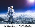 "astronaut standing on the moon ""... | Shutterstock . vector #330302426"