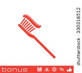 toothbrush icon  | Shutterstock . vector #330318512
