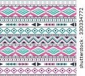 ethnic seamless pattern. tribal ... | Shutterstock .eps vector #330334772