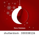 red christmas  greeting card... | Shutterstock . vector #330338126