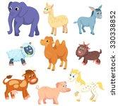 adult domestic animals in... | Shutterstock .eps vector #330338852