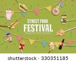 street food festival poster.  | Shutterstock .eps vector #330351185