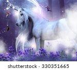 A Majestic Unicorn With Three...