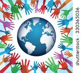 world peace | Shutterstock .eps vector #330365036