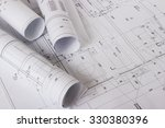 architectural blueprints and... | Shutterstock . vector #330380396