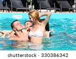 young people having fun in the... | Shutterstock . vector #330386342