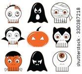 halloween  icons set 3...   Shutterstock .eps vector #330387218
