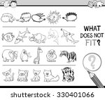 black and white cartoon... | Shutterstock .eps vector #330401066