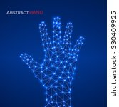 abstract geometric hand with... | Shutterstock .eps vector #330409925