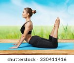 yoga. | Shutterstock . vector #330411416