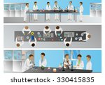 medical scientists  laboratory... | Shutterstock .eps vector #330415835