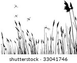 real grass silhouette   vector  ... | Shutterstock .eps vector #33041746