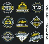 set of vintage and modern taxi... | Shutterstock .eps vector #330418022