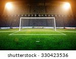 stadium soccer goal or football ... | Shutterstock . vector #330423536