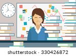 businesswoman overwhelmed with... | Shutterstock .eps vector #330426872