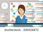 businesswoman overwhelmed with...   Shutterstock .eps vector #330426872
