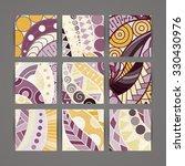set of vector design templates. ... | Shutterstock .eps vector #330430976