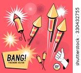retro firework rockets. vector...   Shutterstock .eps vector #330432755