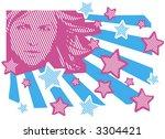 girl and stars | Shutterstock .eps vector #3304421