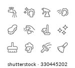 simple set of cleaning related... | Shutterstock .eps vector #330445202