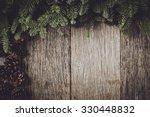 tree branch on rustic wooden... | Shutterstock . vector #330448832