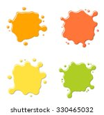 citrus juices blots set  vector ...