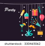 party  celebration and carnival ...   Shutterstock .eps vector #330465062