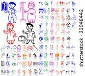 set of medical sketches. part 6.... | Shutterstock .eps vector #33048442