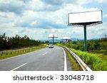 the billboard and road outdoor. | Shutterstock . vector #33048718