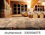 wooden top barrels and space  | Shutterstock . vector #330506075