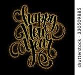 2016 happy new year glowing... | Shutterstock .eps vector #330509885