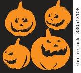 pumpkin halloween | Shutterstock .eps vector #330518108