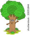 Cartoon Tree Character   Vecto...