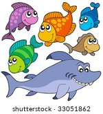 various cartoon fishes... | Shutterstock .eps vector #33051862