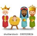 merry christmas cartoons ... | Shutterstock .eps vector #330520826
